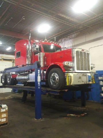 Truck on Hoist